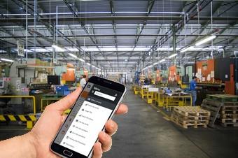 gestion d'un atelier avec un smartphone