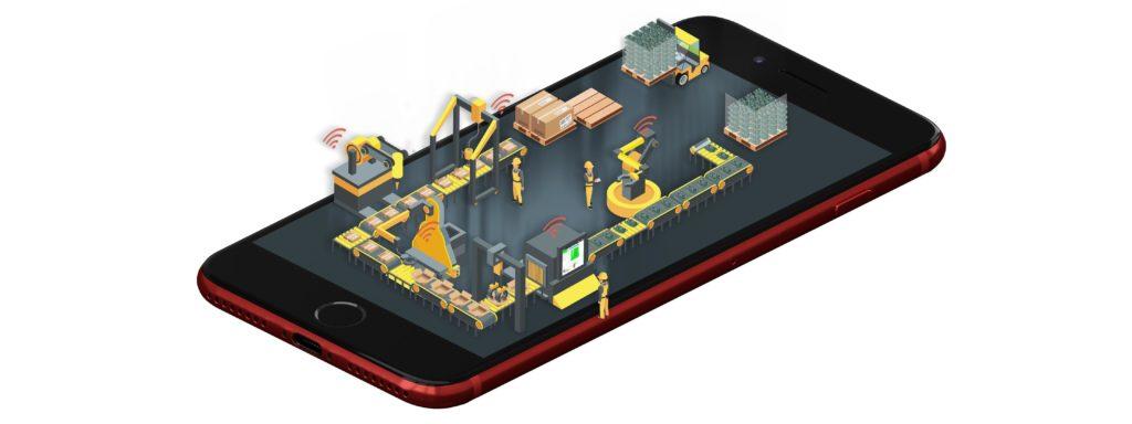 logiciel MES sur smartphone